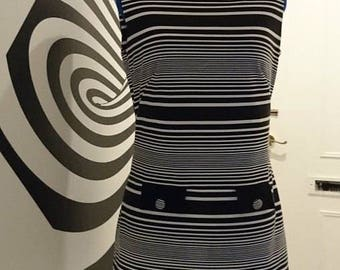 Op art shift dress