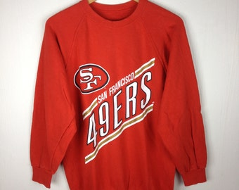 Rare !! Vintage 90s SAN FRANCISCO 49ERS Sf Red Pullover Sweatshirt Medium Size American Football Team Hip Hop Swag NFC Nfl