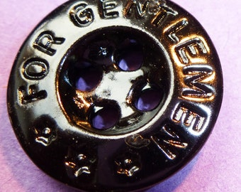 6 Vintage FOR GENTLEMEN Buttons 1.5cm wide - with Stars !