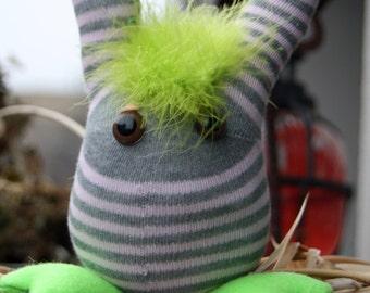 Sock Creature, Stripe Sock Monster Toy, Children Plush Toy Monster