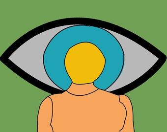 Art print, Pop art, Gift art, Eye, Poster, Illustration print, Digital print, Wall art, Modern art, Contemporary art, Wall art
