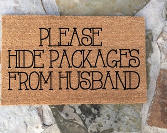 Custom personalied doormat. Funny Housewarming gift. Retail therapy