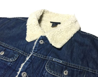 Vintage Deisel Sherpa Lined Denim Jacket