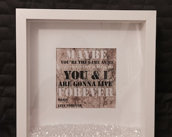Oasis 'Live Forever' Print with Frame