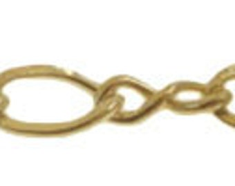 14kt GOLD FILLED cable chain, figure 8, SPOOL, 2.2mm, Per foot