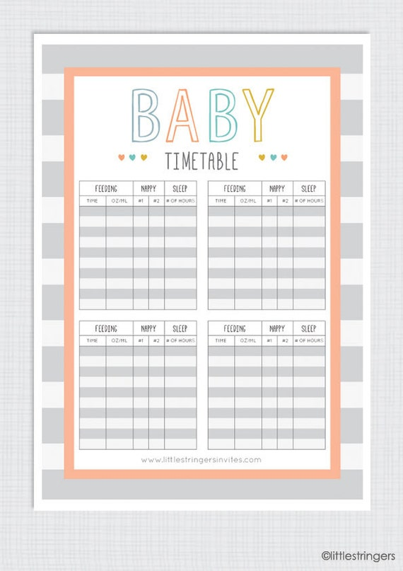 It's just an image of Agile Printable Baby Schedule