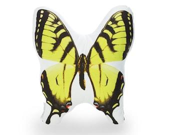 Yellow Swallowtail Printed Pillow - Yellow Swallowtail Butterfly - Butterfly Print Pillow - Butterfly Art Print - Butterfly Home Decor