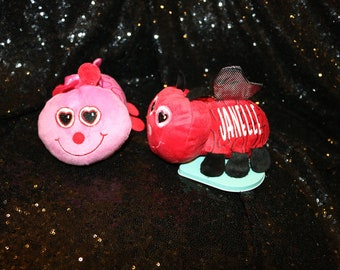 Valentine plush love bug 6 in.