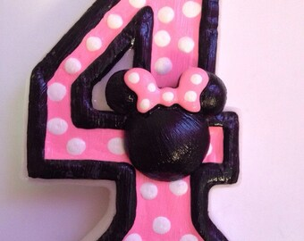 Minnie Mouse Inspired Birthday Candle