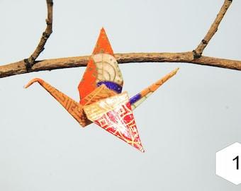 """Pins in origami """"cranes Tangerine, Plum, currants and cream"""""""