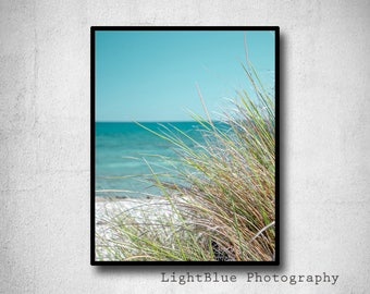 Beach Print Seaside Decor Beach Decor Coastal Wall Art Ocean Print Minimalist Print Teal decor Summer Decor Digital Print Printable Gift