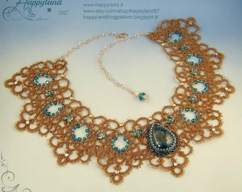 Princess Kate in copper , tatted necklace OOAK