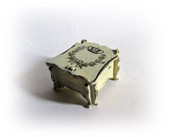 French Chic Ring Box Proposal Ring Box Ring Bearer Box Personalized Wedding Ring Box Enagegment Box Ring Holder Rustic Ring Box  Ring Pillow