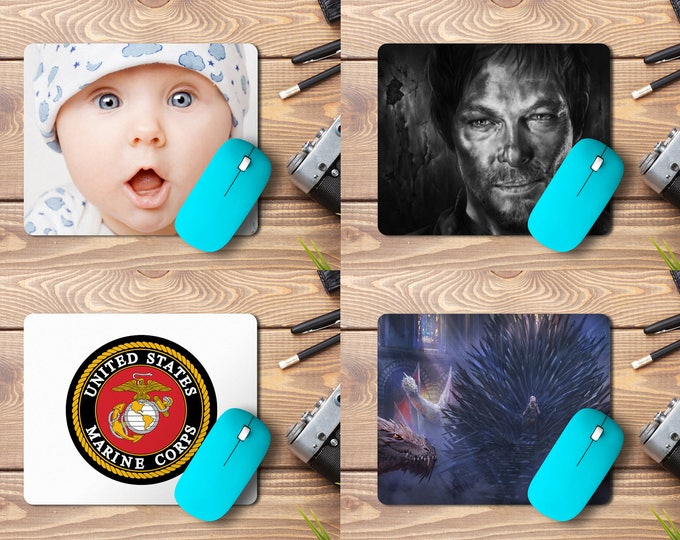 """Featured listing image: Custom Photo Mousepad , Print Logo or Any Design 9.25""""X7.75""""x1/4"""" Customized mouse pad Personalized mouse pad"""