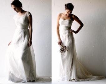 Wedding dress, Boho wedding dress, Silk wedding dress, Lace wedding dress, Alternative wedding dress, Bridal Separates, silk dress GALANTHUS