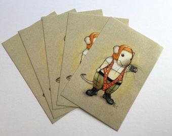 Leeloo's Multipass Pack of 5 Postcard Prints