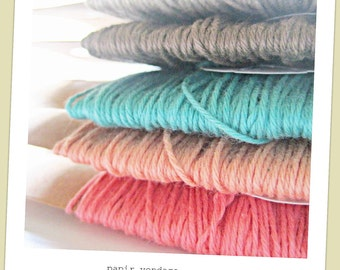 Solid Baker Twine Assortment ,70 yds Solid Bakers Twine, Bakers Twine Assortment, Summer Twine Assorment,in 7 Summer Colors, Wedding Bakers