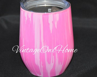 Pretty in Pink Wine Tumbler