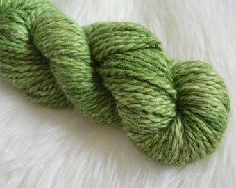 Luxuriously Soft Avocado Bulky Weight Yarn, 100 Percent Baby Alpaca, 100 gm Skein, Hand Dyed Yarn