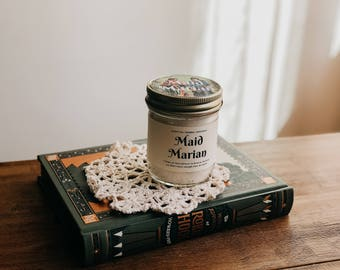 Maid Marian Inspired Bookish Candle w/ Soy Wax