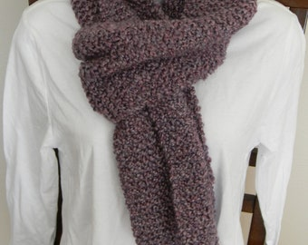 Barouque (light purple) - Threeewes quality hand knitted scarves