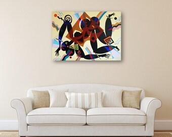 Erotic Art Acrylic Painting Original Painting Canvas Abstract Painting Wall Art Original Painting Acrylic on Canvas Painting Art Acrylic
