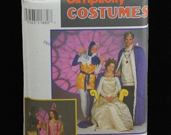 Simplicity Costume Pattern 8286 Medieval King Queen Jester NEW Sz L XL