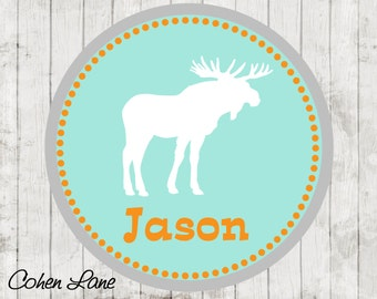 Printable Personalized Moose iron on Tshirt Transfer Design.  Moose Iron On Transfer.  Personalized iron on. Moose Party Iron on. Hunting.