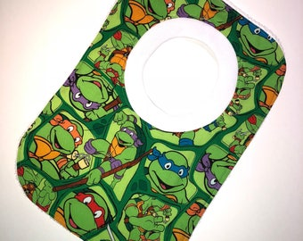Pullover Pull Over Baby Toddler Bib Made From TMNT Teenage Mutant Ninja Turtles Fabric