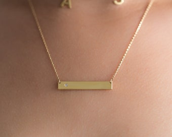 Bar Name Plate Necklace