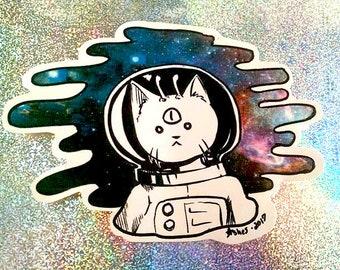 Astrocat Space Sticker