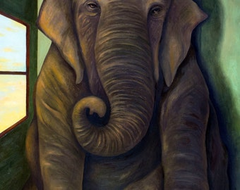 Elephant In The Room Print