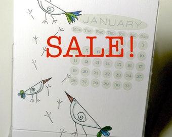 Beaky Birdies Desk Calendar 2018 US & UK Layouts CD case/stand Sale!