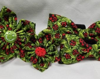 Leafy Ladybugs - Flower or Bow Tie