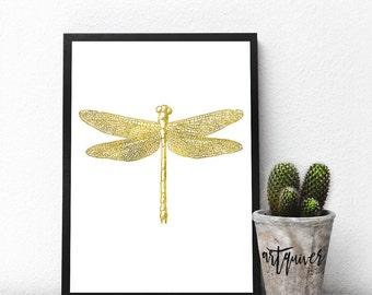 Dragonfly art, Dragonfly artwork, Insect Art, Bug Art, Poster, Trendy Wall Designs, large wall art, Trendy-art, Framed art, framed prints