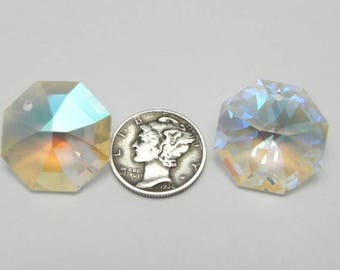 Swarovski 8115 Crystal AB 20mm Prism Pendant (1 piece)