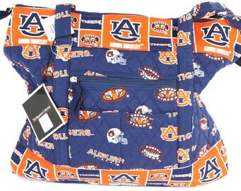 Auburn Large Tote Bag-Auburn Tigers Tote Bag-Auburn Quilted Bag