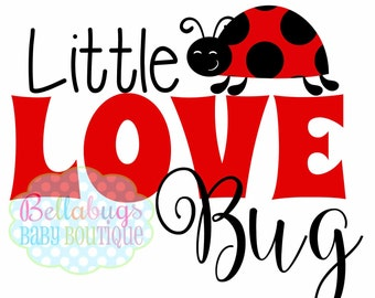 Little Love Bug Valentine's Day Iron-On Transfer - Tshirt - Holidays