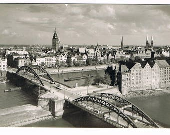 10 Vintage German Black and white Photograph Postcards , small collection of old German Postcards