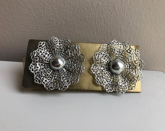 """Vintage Costume Clip-On Earrings - 1959 Never Worn - New in Packaging - Sarah Coventry Inc  - 2"""" wide"""