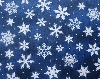 Wilmington Print -  Dark Blue Snowflake Toss # 39105-441