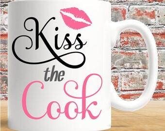 Kiss The Cook - 11oz white mug