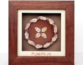 Framed Paper Pumpkin Pie
