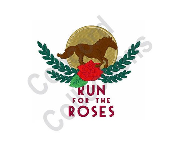 Horse Race Machine Embroidery Design Kentucky Derby Run For The