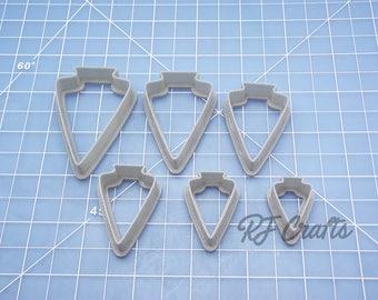 Cutter Set #105 / Arrowhead Polymer Clay Cutters / Clay Cutter Set / Polymer Clay Shape Tool / Clay Shape Cutter