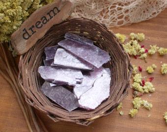 Lepidolite Thin Slabs - Craft Supplies - Meditation Stones - Jewelry Supplies - Brazilian Energy Stones (RK123B10)