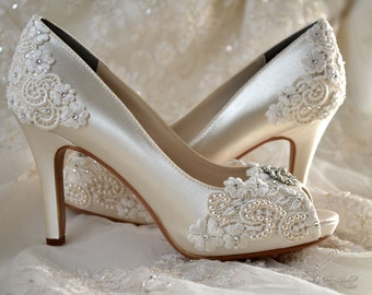 Shoes Wedding Bridal Flowergirl Baby Shoes By Pink2blue On Etsy Plum And Champagne  Wedding Colors Champagne Colored Wedding Shoes
