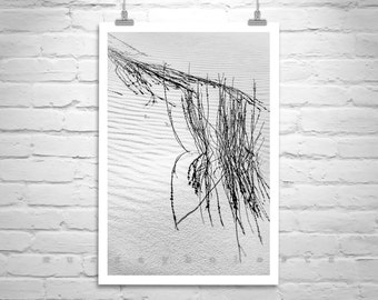 New Mexico Desert Print, Picture of Sand Dunes, White Sands Photo, Minimalist Art, Black and White Landscape Photography, New Mexico Gift