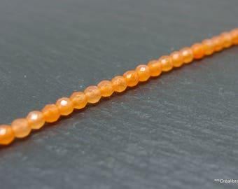 lot de 20 perles agate orange 4 mm