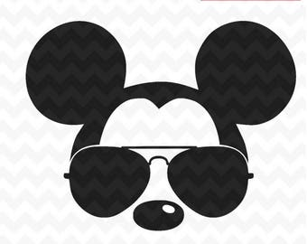 Mickey Mouse svg sunglasses, Disney Mickey Mouse sunglasses cricut silhouette svg file instant download mickey mouse head svg file